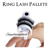 ring lash and glue holder for eyelash extension