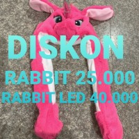 Topi Kelinci Lucu Rabbit Hat Dance Korea - Rabbit Putih