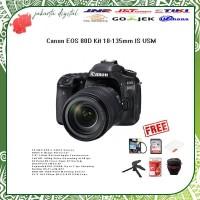 Canon EOS 80D Kit 18-135mm IS USM Canon DSLR Paket Lengkap