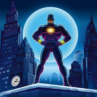 HUAYI blue screen photography background superman photo backdrops