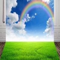 HUAYI blue sky clouds rainbow Photography Backdground