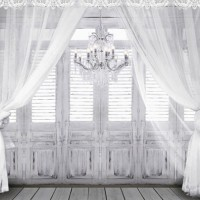 LIFE MAGIC BOX Photography Backdrops White Gauze Doors Chandelier