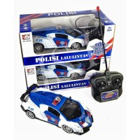 istanatoys.id RC Mobil Remote Polisi Indonesia Biru Putih