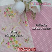 PRCK248 Perca Katun Jepang Couple 248 Motif uk 48x72cm Polkadot uk 48x