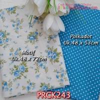 PRCK243 Perca Katun Jepang Couple 243 Motif uk 48x72cm Polkadot uk 48x