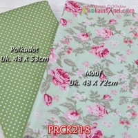 PRCK218 Perca Katun Couple 218 Motif uk 48x72cm Polkadot uk 48x53cm