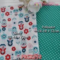 PRCK252 Perca Katun Jepang Couple 252 Motif uk 48x72cm Polkadot uk 48x
