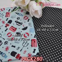 PRCK280 Perca Katun Jepang Couple 280 Motif uk 48x72cm Polkadot uk 48x
