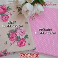 PRCK285 Perca Katun Jepang Couple 285 Motif uk 48x72cm Polkadot uk 48x