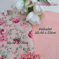 PRCK270 Perca Katun Jepang Couple 270 Motif uk 48x72cm Polkadot uk 48x