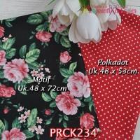 PRCK234 Perca Katun Jepang Couple 234 Motif uk 48x72cm Polkadot uk 48x