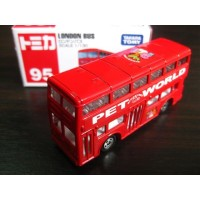 Tomica 95 London Bus Miniatur Bis London Bus Merah