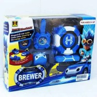 JAM TANGAN MOBIL WATCH CAR BREWER BIRU