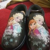 jual sepatu anak branded disney frozen hitam