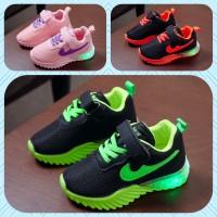 Sepatu Led Anak Laki Perempuan IN3W 21-25 Import - 22, Hijau