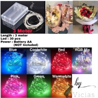 30 LED Lampu Hias LED Kawat String BATERAI WATERPROOF Tumblr Dekorasi