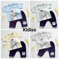 Kaos Anak / Setelan Anak Laki-laki (atasan dan bawahan) 1-2thn Bear - Abu-abu