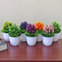 jual tk r084 pot tanaman hias dekorasi bunga bonsai palsu