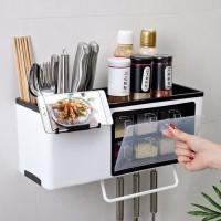 Rak dapur gantung Set kitchen shelf Multifungsi 6 Laci bumbu Holder Hp