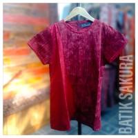 Blouse Batik Merah Pendek Batik Cap | Batik Sakura Solo - Elegant
