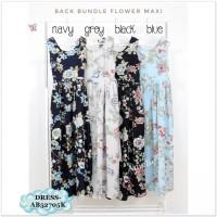 AB52705K Long Dress Maxi Bunga Pantai Pesta Wanita Korea Import