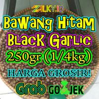 Bawang Putih Hitam Black Garlic Tunggal Lanang 250gr 250 gr Fermentasi