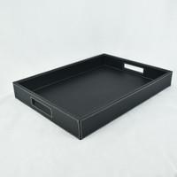 40x30x6 cm - Nampan Kulit Premium / Baki / Tray Kulit Sintetis Hotel