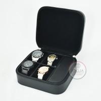 Black - Travel Watch Box / Tempat Jam tangan travel / Kotak Jam Tangan