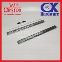Rel / Rail Laci Ball Bearing Double Track FE 45 cm OK Hardware