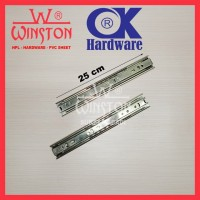 Rel / Rail Laci Ball Bearing Double Track FE 25 cm OK Hardware