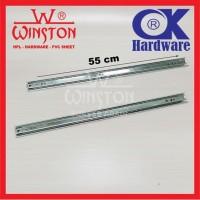 Rel / Rail Laci Ball Bearing Double Track FE 55 cm OK Hardware
