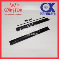 Rel / Rail Laci Ball Bearing Double Track FE 35 cm OK Hardware