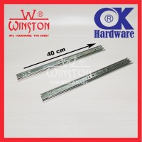 Rel / Rail Laci Ball Bearing Double Track FE 40 cm OK Hardware