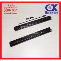 Rel / Rail Laci Ball Bearing Double Track FE 30 cm OK Hardware