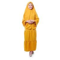 BAJUYULI - Baju Muslim Gamis Anak Syar'i Moscrepe Polos Kuning - OSK01