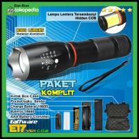 Paket Senter Polisi Sepeda Darurat LED + Cob Lentera Cree XM-L T6 8000