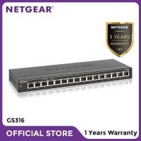 Netgear GS316 16 Port Gigabit Ethernet Unmanaged Switch Garansi Resmi