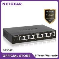 Netgear GS308T 8 Port Gigabit Ethernet Smart Managed Pro Switch S350