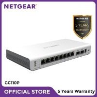 Netgear GC110P Insight Managed 8 Port Gigabit PoE Cloud Desktop Switch