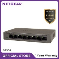 Netgear GS308 8 Port Gigabit Ethernet Unmanaged Switch Garansi 1 Tahun
