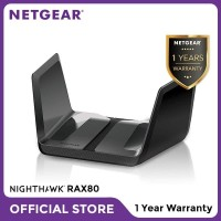 Netgear RAX80 Nighthawk Smart WiFi Router AX8 8 Stream WiFi 6