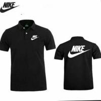 Polo kaos pria kerah Baju Nike hitam M L XL XXL murah keren bagus