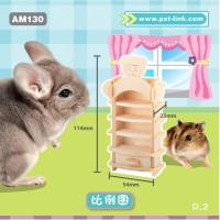 AM130 Wooden Gnawing Bedroom Set Mainan Gigitan Hamster