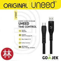 UNEED UCB36M Time Control Kabel Data Micro USB Quick Charge 3.0