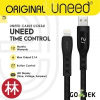 UNEED UCB36i Time Control Kabel Data Lightning Fast Charging Max 2.1A