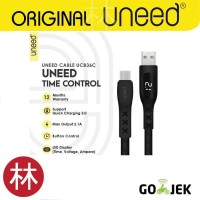 UNEED UCB36C Time Control Kabel Data Type C Quick Charge 3.0 Max 2.1A
