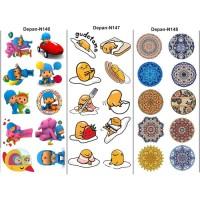 topping makanan/sticker makanan/sticker nasi/edible stamp N143-N150