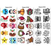 topping makanan/sticker makanan/sticker nasi/edible stamp S158-S169