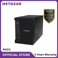 Netgear RN212 NAS Network Storage Desktop 2 Bay Server Backup