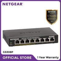 Netgear GS308P 8 Port Gigabit PoE Unmanaged Switch for IP Camera